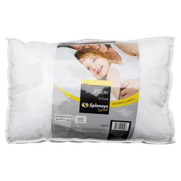 Spinneys Microfiber Pillow 50x75 1000G 332991-V001 by Spinneys Home