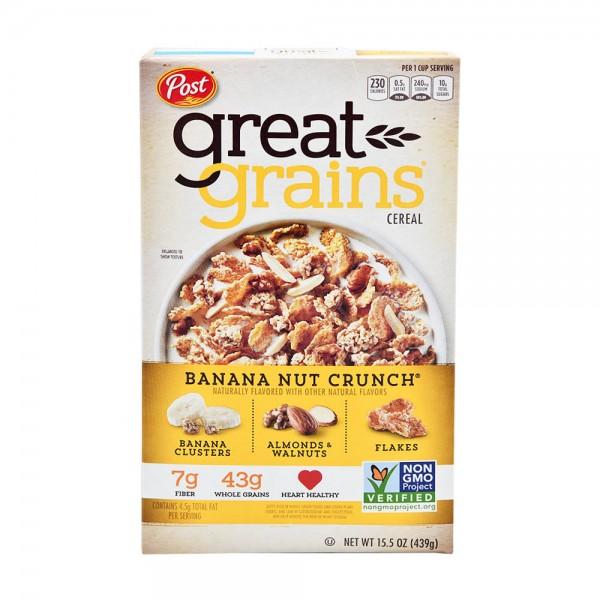 Post Banana Nut Crunch Cereal 15.5oz 333414-V001
