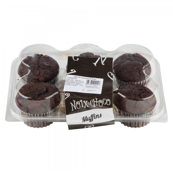 Noix Et Choco Muffin Chocolate 6 Pieces 333494-V001 by Noix & Choco