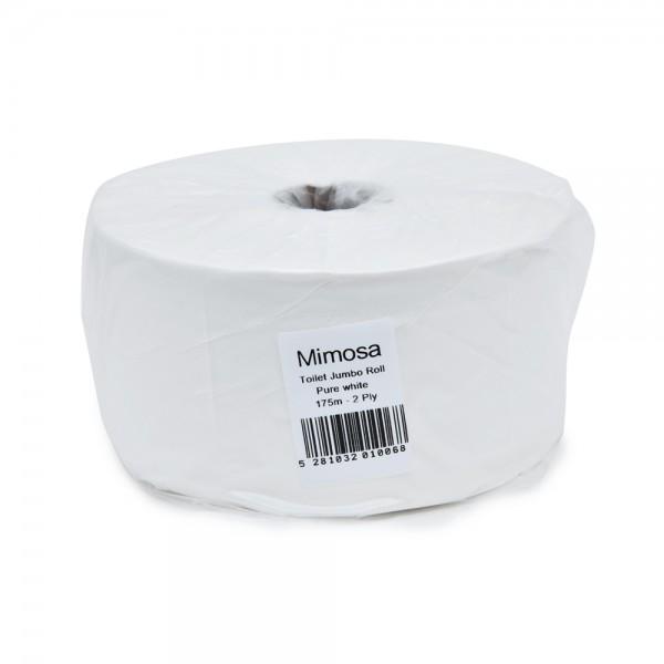 Mimosa Jumbo Toilet Roll White 1 Piece 335317-V001 by Mimosa