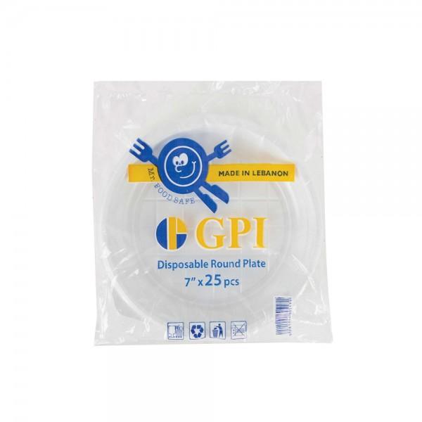 "Gpi Round Plate 7"" - 25Pc 335324-V001 by Gpi"
