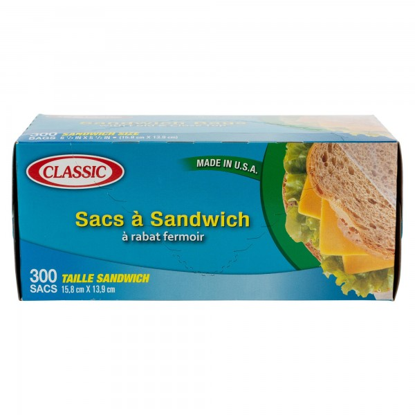 Classic Sandwich Bags 300 Pieces 337748-V001 by Classic