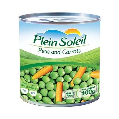 Plein Soleil Peas & Carrots Can 400G 338461-V001 by Plein Soleil