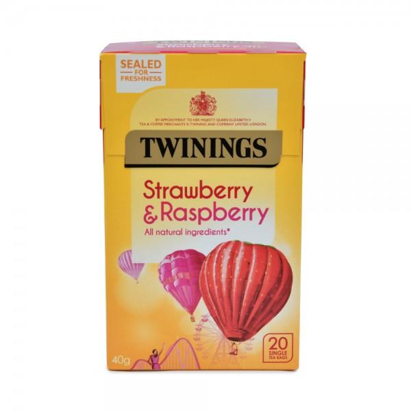 TWININGS Strawberry, Raspberry & Loganberry - 20 Single Tea Bags 338673-V001 by Twinings