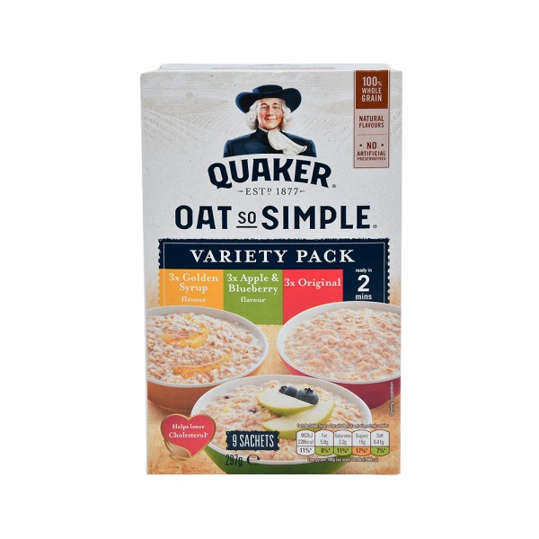 QUAKER Oat So Simple Variety Pack 9 Sachets 338767-V001 by Quaker