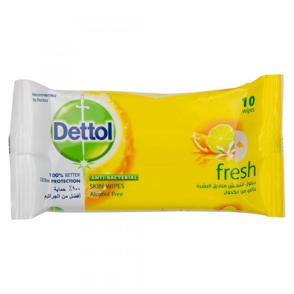 Dettol Skin Wipes Fresh 10 Pieces 349205-V001