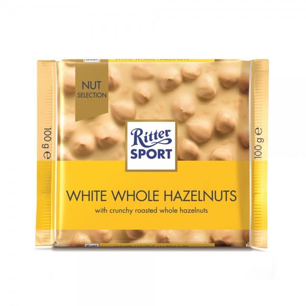 WHITE CHOC HAZELNUT 350874-V001 by Ritter Sport