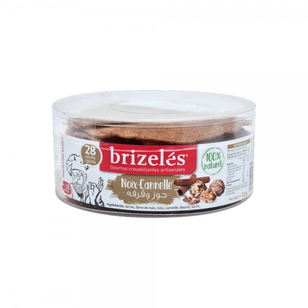 Brizeles Galettes Noix Cannelle 20PC- 180g 351878-V001 by Brizelés