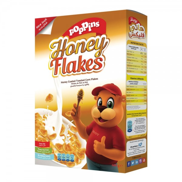 Poppins Honey Flakes 600G 352492-V001 by Poppins