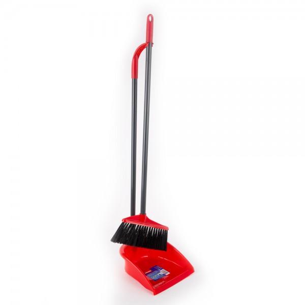 Vileda Long Handle Dustpan With Broom 2 Pieces 352864-V001 by Vileda