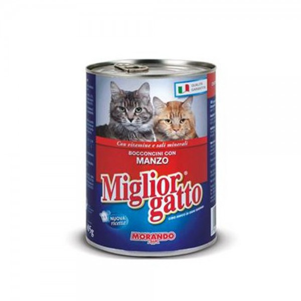 Miglior Cat Food Beef Manzo - 405G 353088-V001 by Miglior Cane