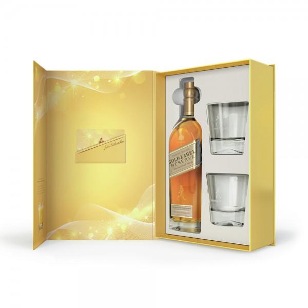 Johnnie Walker Gold Label 750ml + 2 Glasses 354926-V003 by Johnnie Walker