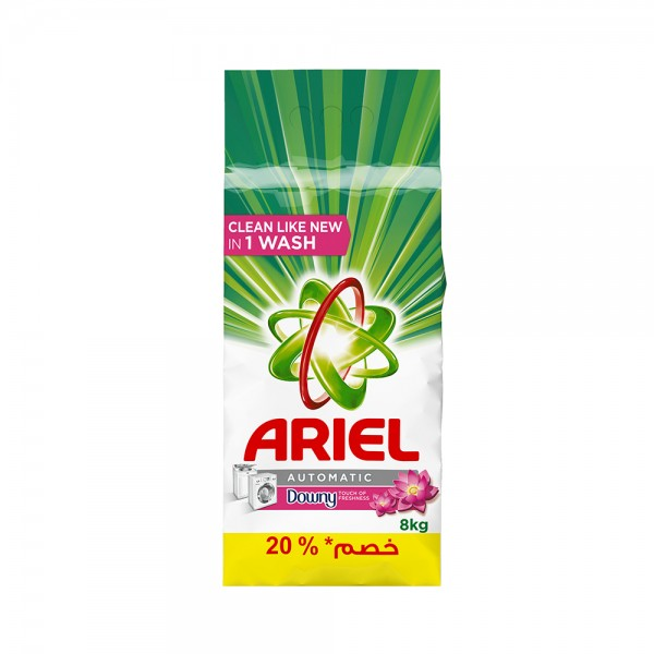 Ariel Original W/Downy Powder 8 Kg -20Pcut 355721-V002 by Ariel