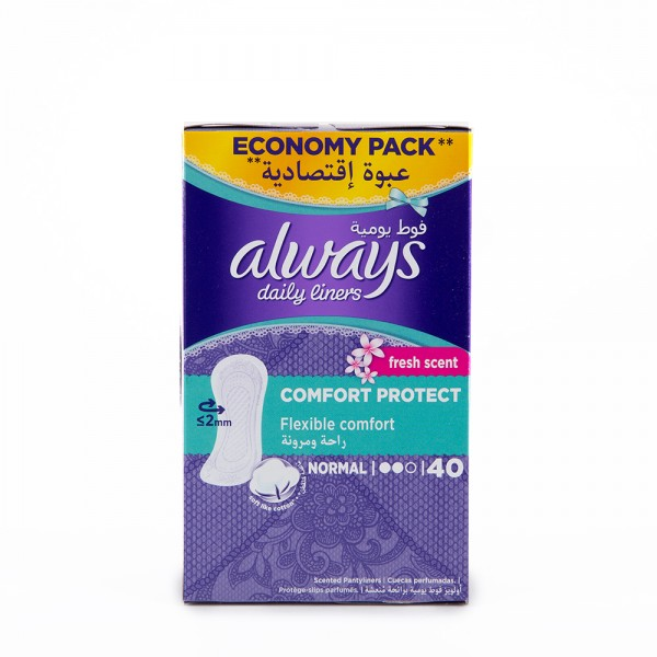 Always Everyday Pantiliners Normal Fresh Scent 40's 356620-V001 by Always