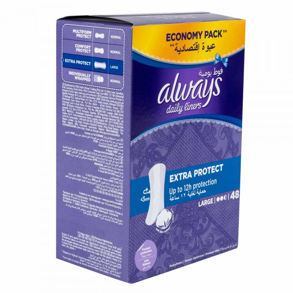 Always Everyday Pantiliners Large 48'S 356621-V001 by Always