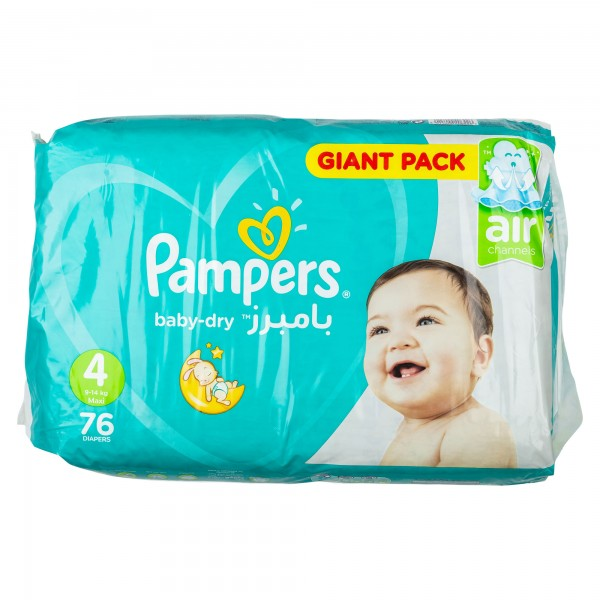 Pampers Active Baby Mega Pack Size 4 76 Diapers 357397-V001 by Pampers