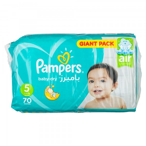 Pampers Active Baby Mega Pack Size 5 70 Diapers 357399-V001 by Pampers