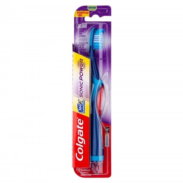 Colgate 360 Whole Mouth Clean Medium Power Toothbrush with replaceable head 358673-V001 by Colgate