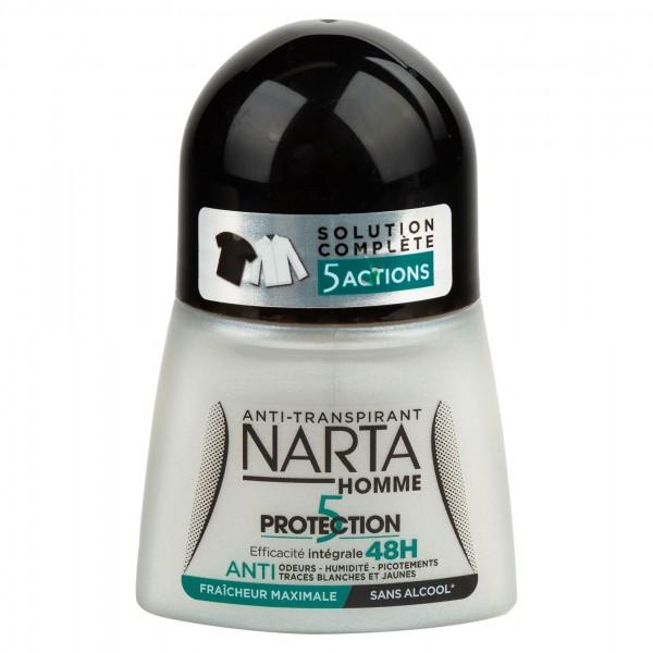 Narta Homme Protection 5 Anti-Transpirant Roll 50ml 359910-V001 by Narta