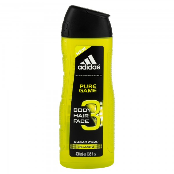 Adidas Shower Gel Pure Game 3 In 1 400ml 364116-V001 by Adidas