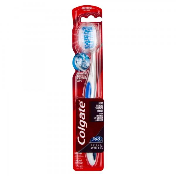 Colgate 360 Optic White Soft Whitening Toothbrush, Value Pack 2pk 364568-V001 by Colgate
