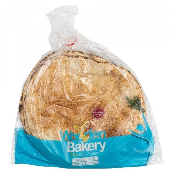 Wooden Bakery Pita High Protein 6 Loaves 400G 368019-V001 by Wooden Bakery