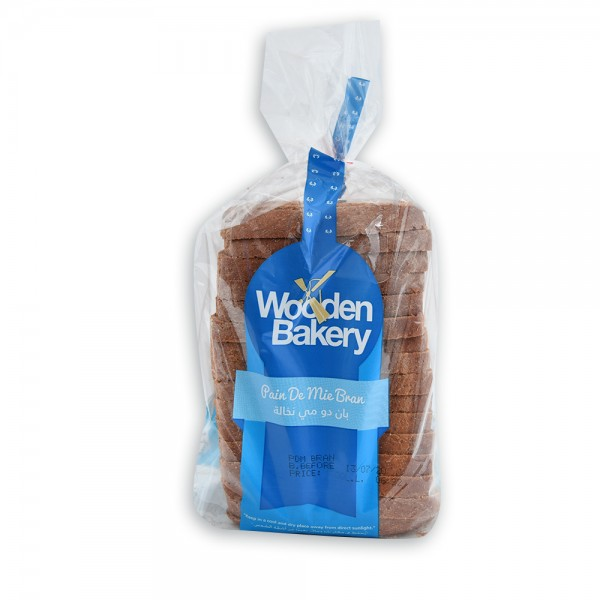 Wooden Bakery Pain De Mie Bran Bag 400g 368033-V001 by Wooden Bakery
