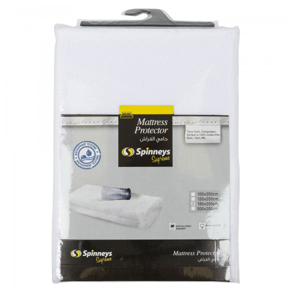 Spinneys Mattress Protector 180X200Cm 368175-V001 by Spinneys Supreme