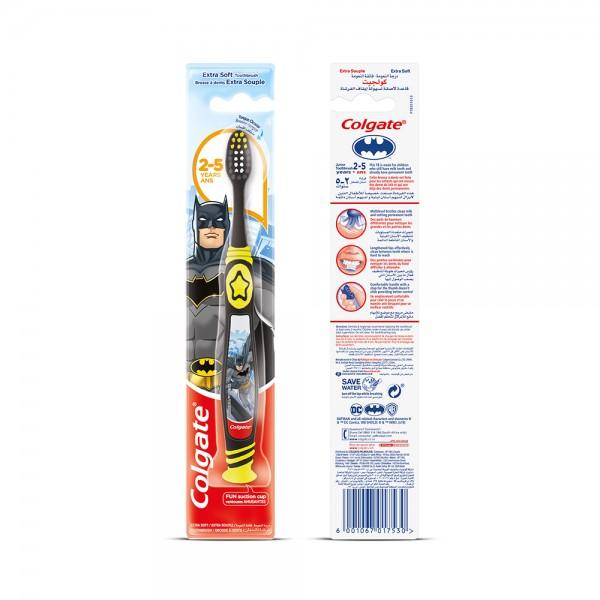 Colgate Kids Toothbrush Barbie/Batman Assorted 25 Years Extra Soft Manual Toothbrush 1pk 369018-V001 by Colgate