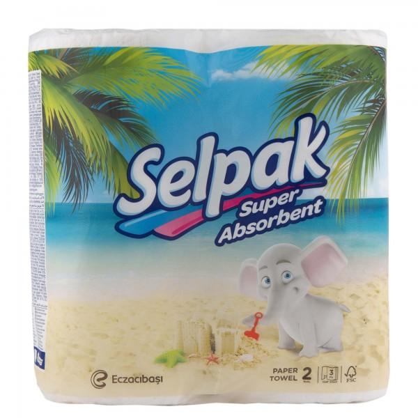 Selpak Kitchen Towel 2 Rolls Per Pack 370137-V001 by Selpak