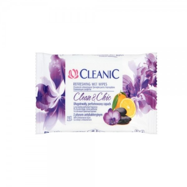 Cleanic Refreshing Wet Wipes 15s 370252-V001 by Cleanic