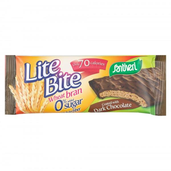 Santiveri Lite Bite Wheat Bran Coated With Dark Chocolate 17G 372009-V001 by Santiveri