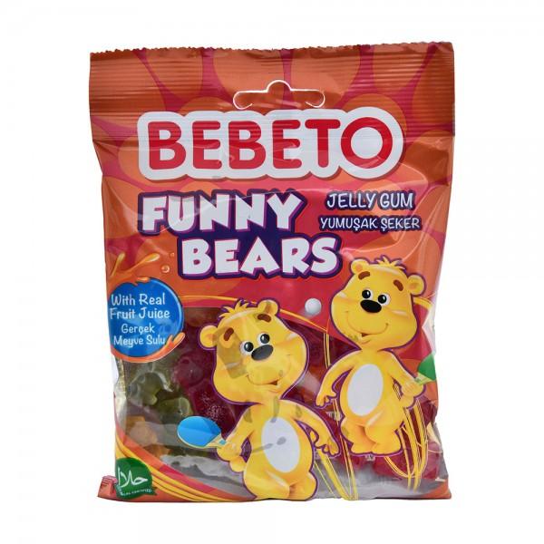 Bebeto Kervan Jelly Gum Funny Bears - 80G 372062-V001 by Bebeto