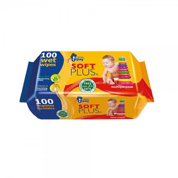 Gipsy Wipes Soft Plus 100pc 373194-V001 by Sanita