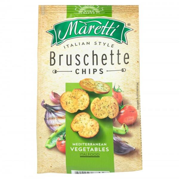 Maretti Bruschette Chips Mediterranean Vegetables 70G 373413-V001 by Maretti