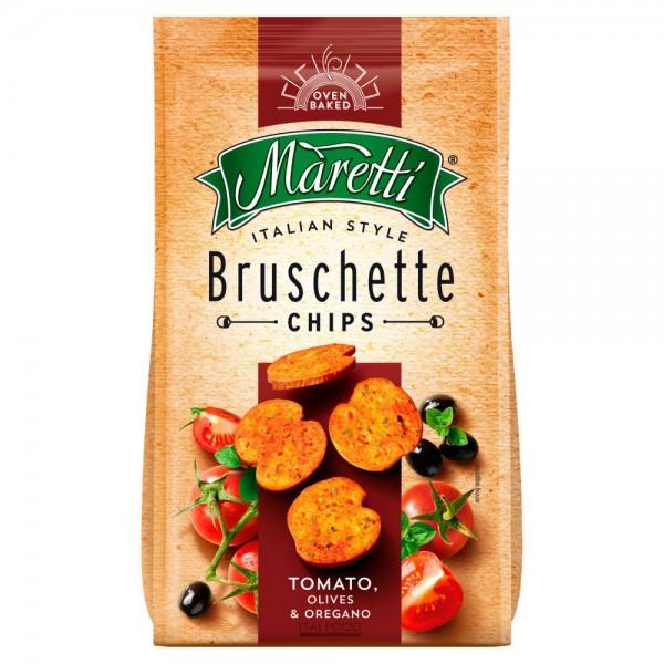Maretti Bruschette Chips Tomato Olives & Oregano 70G 373419-V001 by Maretti