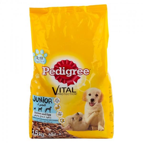 Pedigree Junior (2-12 Months) Vital Protection Chicken & Egg Flavor 1.5Kg 373742-V001 by Pedigree