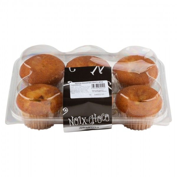Noix Et Choco Muffin Assorted Fruity 6 Pieces 374108-V001 by Noix & Choco