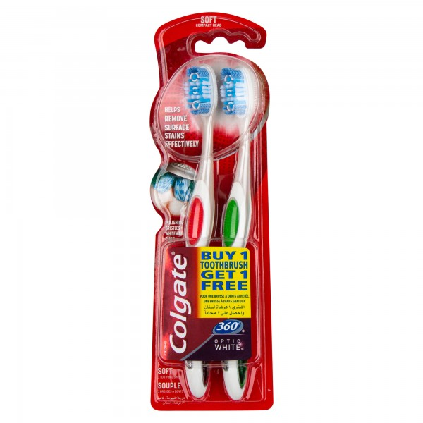 Colgate 360 Whole Mouth Clean Soft, Value Pack Toothbrush2pk 374207-V001 by Colgate