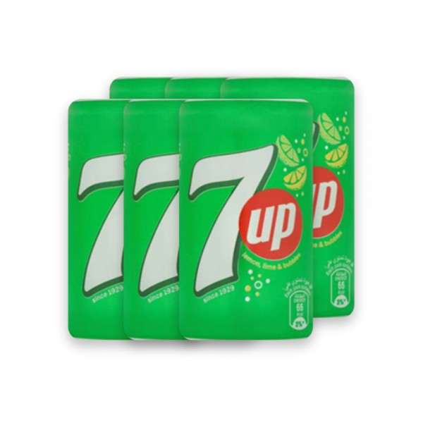 7up Regular Can 4x185ml + 2 FREE 376553-V005 by Seven Up - 7 up