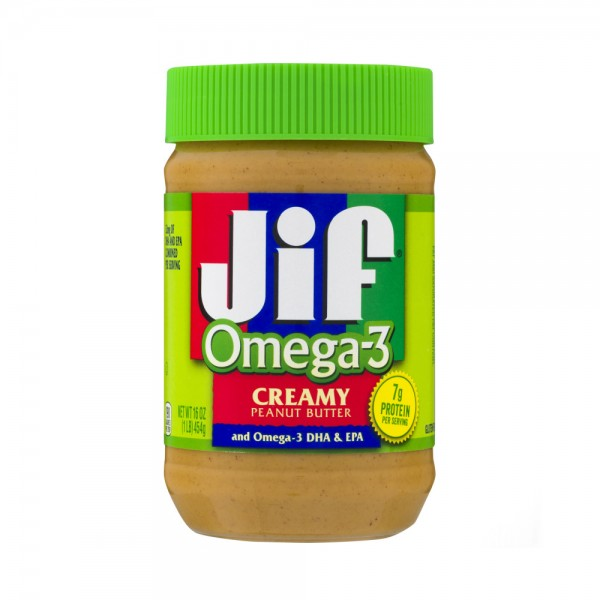 PEANUT BUTTER OMEGA3 SMOOTH 381522-V001 by Jif Peanut Butter