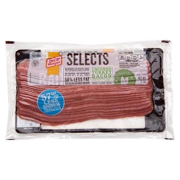 Osacr Mayer Selects Uncured Turkey Bacon 11Oz 386108-V001 by Oscar Mayer