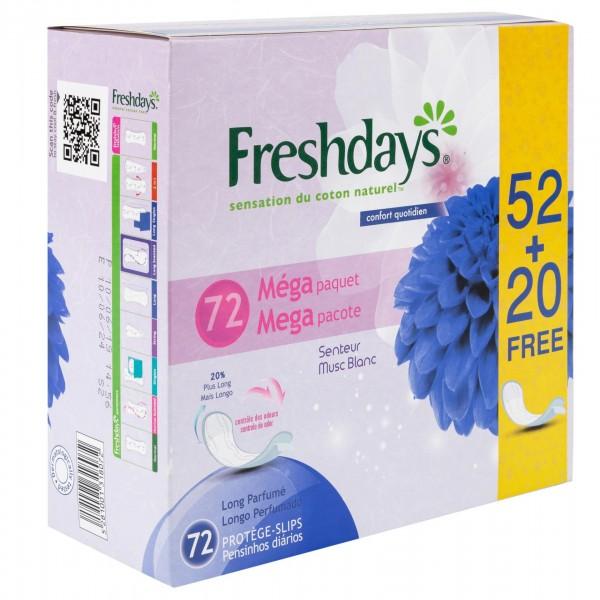 Freshdays Normal Pantiliners 52's + 20 Free 423139-V001 by Sanita