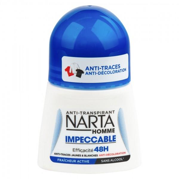 Narta Homme Impeccable Anti-Transpirant Roll 50ml 386263-V001 by Narta