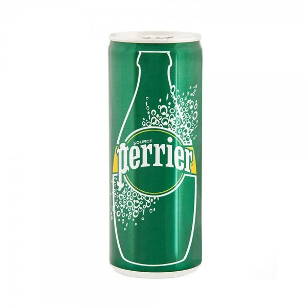 Perrier Sparkling Natural Mineral Water Can 250ml 389520-V001 by Perrier
