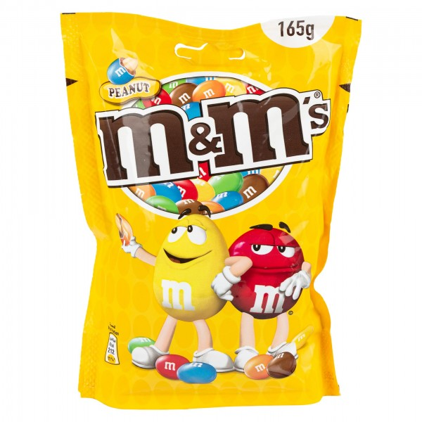 M&M's Peanut Chocolate Candies Pouch Bag 165G 391480-V001 by Mars