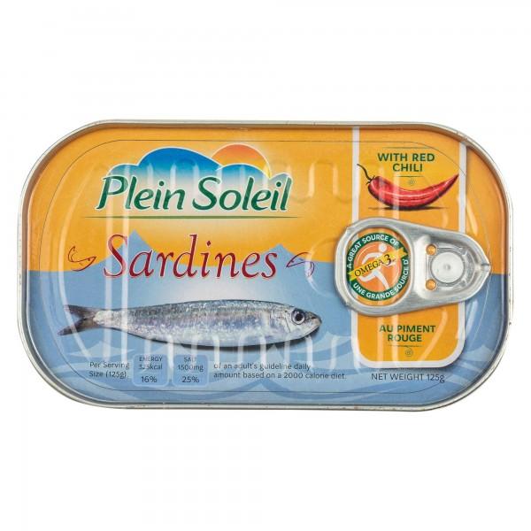 Plein Soleil Sardine With Red Chili Canned 125G 392769-V001 by Plein Soleil