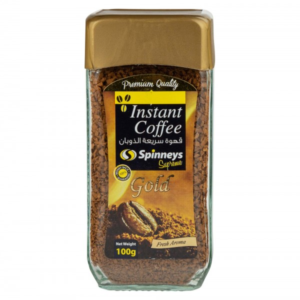 Spinneys Instant Gold Coffee 100G 392808-V001 by Spinneys Food