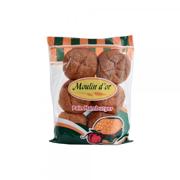 Moulin D'Or Pain Hamburger 450g 393581-V001 by Moulin d'Or