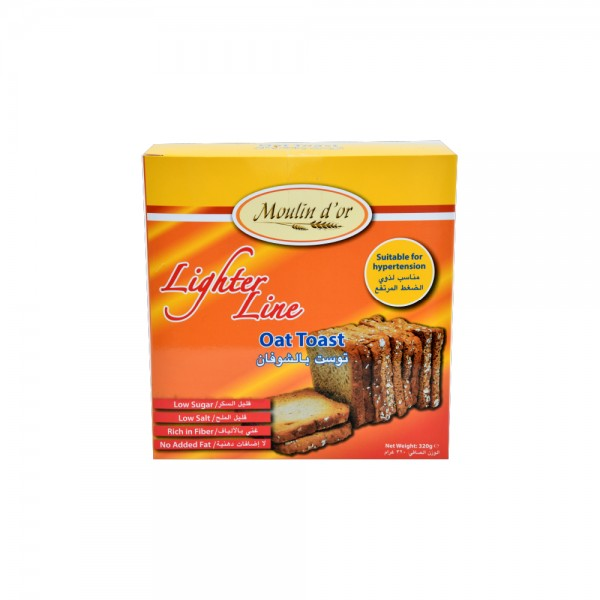 Moulin D'Or Toast Oat 320g 393601-V001 by Moulin d'Or